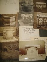 [ANTIQUES] R. GEORGE TROLLOPE & SONS, coll'n of photos of antique well-heads, with ms.