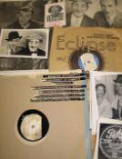 BING CROSBY, signed b/w Paramount portrait, + Private Paramount vinyl record of Bing & Martha Raye