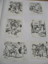 19th c. WOOD-ENGRAVING, collection or material arranged in 2 portfolios, of material culled from