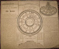 """[SALISBURY] MERRYWEATHER (F.) An Exact Plan and section of Old Sarum,"""" engr. plan & text, trimmed,"""