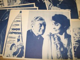 """[FILM POSTERS] a collection of monotone promotional cards for """"The Paris Express,"""" and a q. of"""