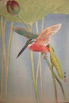 [ASIAN ART] 5 colour prints, birds and flowers, 33 x 24 cms, unframed (5)