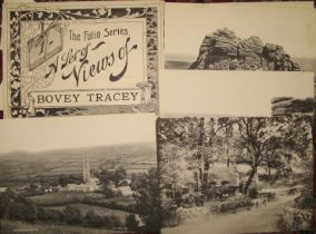 """BOVEY TRACEY, set of 6 views, """"Folio Series,"""" with original envelope"""