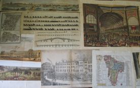 [MAPS & PRINTS] 23 maps, plans and views of LONDON etc. including: ILN chromolithographs, black