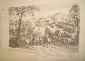 Battle of Culloden, April 16, 1746, unframed restrike of the 1797 print, 48 x 67 cms