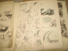 [MILITARY SURVEYING] collection of loose ink & watercolour plans, etc., on 14 paper sheets, 36 x