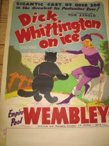 POSTER, col. litho. Poster for Dick Whittington on Ice