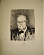 [CHURCHILL] DOWN (Vera) [Portrait of Churchill at the time of his meeting with Roosevelt for the