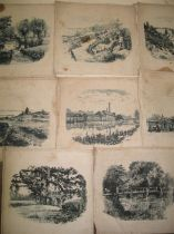 MACKANESS (W.E.) artist: coll'n of topographical scenes printed on linen, Bournemouth & environs (