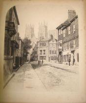 "FENTON (Roger) ""York,"" photo-engraving, unframed, mounted on card, 21 x 18 cms (1)"