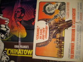 """[FILM POSTERs] """"Chinatown,"""" half sheets, 3 copies, & a q. of others, incl. """"20,000 Leagues Under the"""