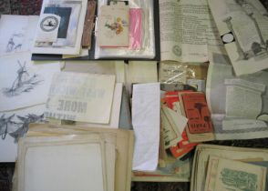 EPHEMERA, incl. original artwork, old newspapers, a tranche of 19th c. Acts relating to transport,