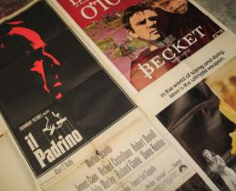 """[FILM POSTERS] """"Il Padrino [The Godfather],"""" """"Becket,"""" """"The Next Man,"""" & q. of others, large,"""