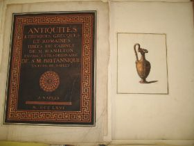 """[ANTIQUITY] loose collection of plates, ca. 100, some hand-col'd, from """"Antiquites . . . du"""