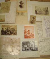 PHOTOGRAPHS, ephemera, etc., small q.
