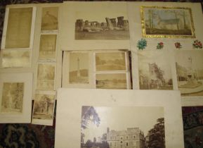 PHOTOGRAPHS. Collection of 19th c. U.K. topographical views, incl. Stonehenge.