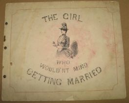"""[SOCIAL SATIRE] """"The Girl Who Wouldn't Mind Getting Married,"""" obl. folio, 11 of 12 plates only,"""