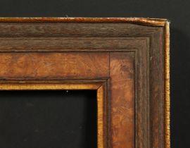 A burr wood veneer and oak frame, rebate size 20 x 24 , 51cm x 61cm.