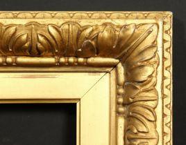 A 19th century Watts style frame, rebate size 20 x 24 , 51cm x 61cm.