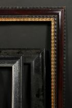 A Dutch style ripple moulded frame, rebate size 24.5 x 32.5 , 62cm x 83cm along with two ebonised