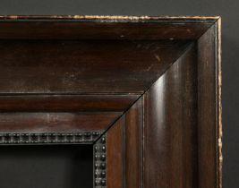 A Dutch style dark wood frame with ripple moulding, rebate size 20.5 x 24.5 , 52cm x 62cm.