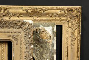 A group of three 19th century gilt composition frames, rebate sizes 12 x 16 , 30.5cm x 41cm, 12 x 18