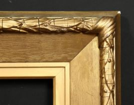 A 19th century composition and gilded oak frame, rebate size, 16 x 10 , 40.5cm x 15.5cm.