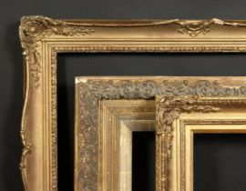 A group of three 19th century and later gilt composition frames, rebate sizes 25 x 30 , 63.5cm x