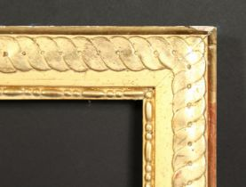 A 19th century gilt composition frame with Guilloche motif, rebate size 36 x 45.75 , 92cm x 116.