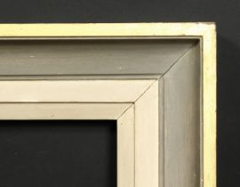 A moulded and painted frame, rebate size 20 x 27 , 51cm x 68cm.