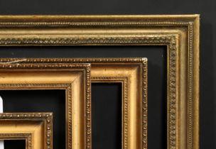 A pair early 20th century gilt composition frames, rebate size each 11.75 x 21.5 , 30cm x 55cm,
