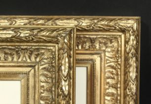 A pair of early 20th century gilt composition frames, rebate size 5.5 x 7.5 , 14cm x 19cm, would fit