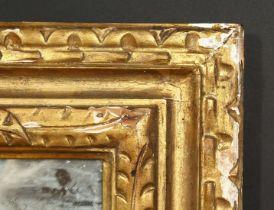 A 19th century foliate carved wood frame, rebate size 28 x 40 , 71cm x 101.5cm.