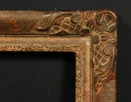 An early 20th century composition frame, rebate size 14 x 18 , 35.5cm x 45.5cm.