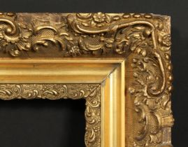 A 19th century continental gilt composition frame, rebate size 21.5 x 25.5 , 55cm x 65cm.