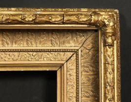 A 19th century gilt composition frame, rebate size 16 x 24 , 40.5cm x 61cm.