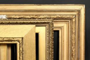 A group of three 19th century gilt composition frames, rebate size 11.5 x 18 , 29.5cm x 46cm, 7 x 20