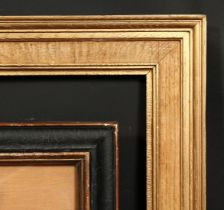 An early 20th century moulded and oak frame, rebate size 24 x 16 , 61cm x 40.5cm, along with an