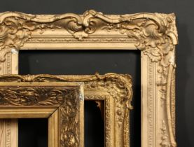 A group of three various 19th century and later frames, rebate sizes 16 x 23 , 40.5cm x 59cm, 16 x