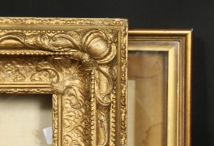 A 19th century gilt composition frame, rebate size 11.5 x 9.5 , 29.5 cm x 24.5cm, along with a box