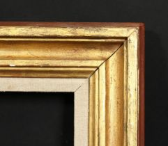 An early 20th century moulded frame with linen slip, rebate size 13 x 16 , 33cm x 41cm.