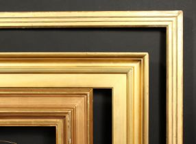 A group of three early 20th century moulded frames, rebate sizes 21.5 x 25.75 , 54cm x 65cm, 25 x 30