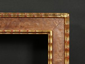 A Burr wood frame with ripple moulding, rebate size 23 x 29.25 , 58.5cm x 74cm.