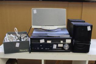 A small hi-fi system etc.