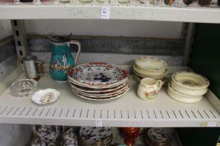 Ironstone plates, Bunnikins china etc.