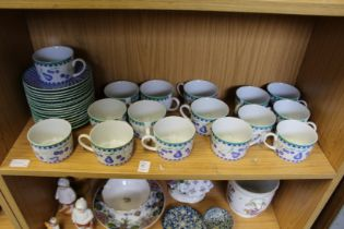 Breakfast cups and saucers.