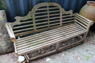 A Lutyens style garden bench (AF).
