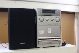 A Panasonic CD system.