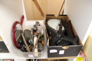 Miscellaneous items to include plate stands etc.