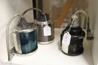 Three small lanterns.